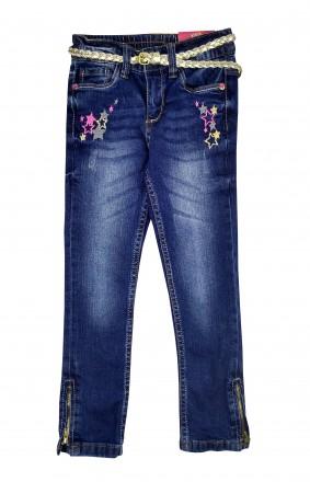 Джинсы с золотистым поясом, штаны для девочки, Kiki&Koko, Германия.. Винница. фото 1