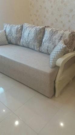 Продам новый в упаковке диван, делали на заказ,в собранном виде 200х80, в спальн. Одесса, Одесская область. фото 3