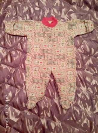 Продам человечки  для новорожденной девочки 56-го размера. Цена за все - 150 грн. Одесса, Одесская область. фото 2
