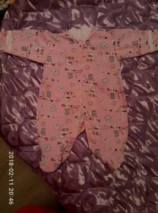 Продам человечки  для новорожденной девочки 56-го размера. Цена за все - 150 грн. Одесса, Одесская область. фото 4