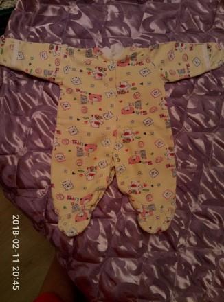Продам человечки  для новорожденной девочки 56-го размера. Цена за все - 150 грн. Одесса, Одесская область. фото 3