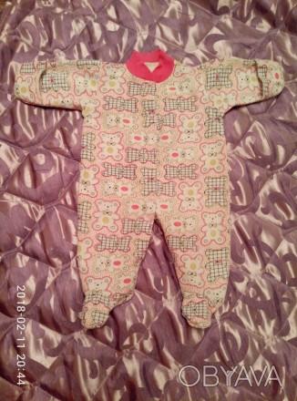 Продам человечки  для новорожденной девочки 56-го размера. Цена за все - 150 грн. Одесса, Одесская область. фото 1