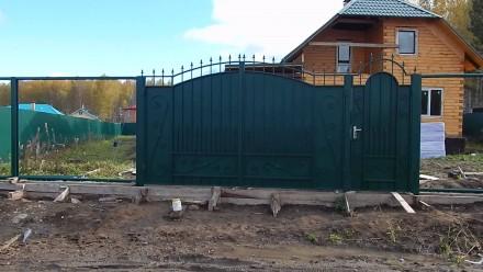 Металлические ворота. Кривой Рог. фото 1
