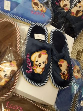 Детские домашние тапочки, 30-35р., с собачками, есть для девочек и для мальчиков. Киев, Киевская область. фото 5