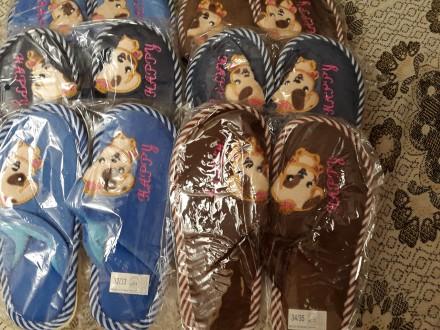 Детские домашние тапочки, 30-35р., с собачками, есть для девочек и для мальчиков. Киев, Киевская область. фото 4