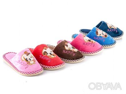 Детские домашние тапочки, 30-35р., с собачками, есть для девочек и для мальчиков. Киев, Киевская область. фото 1
