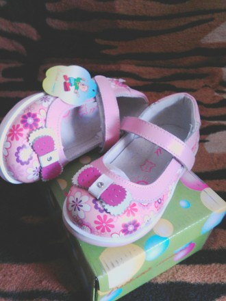 Розовые, новые туфельки для маленькой принцессы,  25 р. - 16.5 см вся стелька (. Киев, Киевская область. фото 3