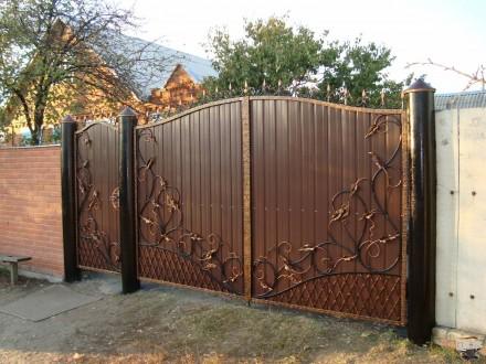Кованые ворота. Кривой Рог. фото 1