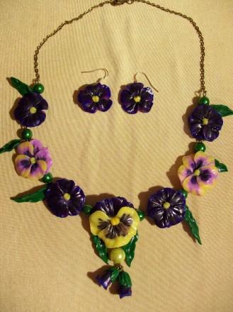 """Необычные подвески и цветочное ожерелье. """"Веселый паучек"""" обеспечит Вам всегда х. Чернигов, Черниговская область. фото 5"""