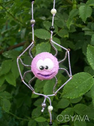 """Необычные подвески и цветочное ожерелье. """"Веселый паучек"""" обеспечит Вам всегда х. Чернигов, Черниговская область. фото 1"""