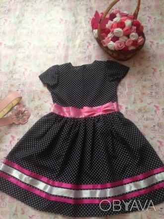 платье для девочки 7лет,рост130,дл. спинки31,дл.юбки37,размер32. Кривой Рог, Днепропетровская область. фото 1