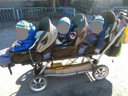 Продам коляску для тройни Peg-Perego. Ездили с рождения и до 1,5 лет. Если ребен. Старобельск, Луганская область. фото 3