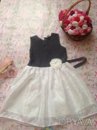 платье для девочки 7-8 лет,рост 130,дл.спинки 30см.,длина юбки37,размер32. Кривой Рог, Днепропетровская область. фото 1