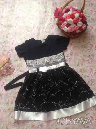 платье для девочки 7 лет,рост 130,дл юбки 35,размер 32. Кривой Рог, Днепропетровская область. фото 1