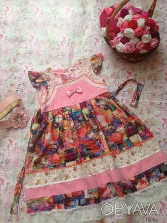 платье для девочки 9 лет,рост 140,дл.  платья 68,размер34. Кривой Рог, Днепропетровская область. фото 1