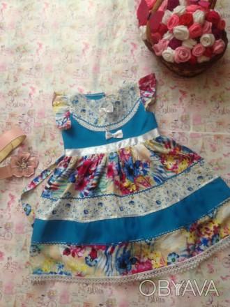 платье для девочки 5лет,дл. талии23,дл. юбки36,размер32. Кривой Рог, Днепропетровская область. фото 1