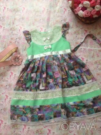 платье для деыочки 8 лет,рост130,дл. талии 23,дш.юбки45,завышенная талия. Кривой Рог, Днепропетровская область. фото 1