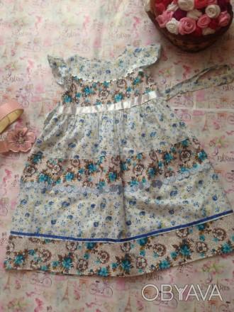 платье комбинированное,рост 120,дл.до талии23,дл.юбки42,размер32. Кривой Рог, Днепропетровская область. фото 1