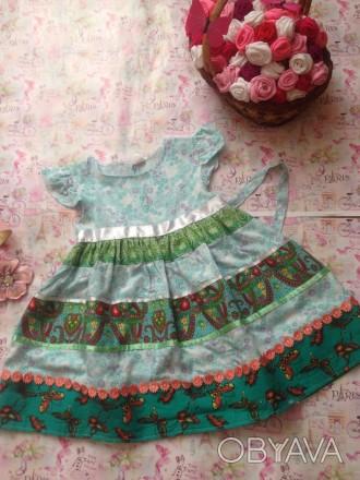 платье с завышенной талией,дл. до талии19,дл.юбки34,рост 100. Кривой Рог, Днепропетровская область. фото 1