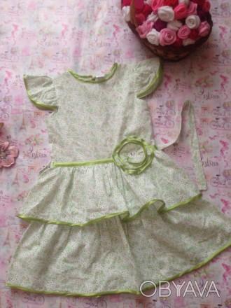 платье батистовое ,рост 120,дл.до талии30,дл.юбки34,размер32. Кривой Рог, Днепропетровская область. фото 1