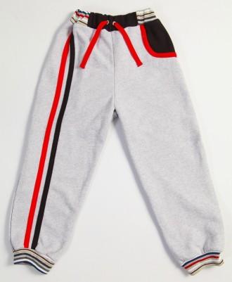 Спортивные брюки для мальчика, можно и для девочек (серые)  с разноцветными ламп. Киев, Киевская область. фото 4