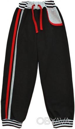 Спортивные брюки для мальчика, можно и для девочек (серые)  с разноцветными ламп. Киев, Киевская область. фото 1