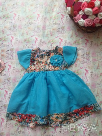 платье на 1-2 года,рост 80 см.размер 24. Кривой Рог, Днепропетровская область. фото 1