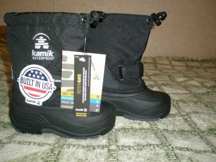 Продам дуже теплі зимові чобітки на хлопчика відомого канадського бренду Kamik ч. Ровно, Ровненская область. фото 3