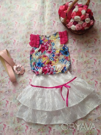 блузка и юбка,рост 120,дл.юбки37,размер 32,длина блузы36. Кривой Рог, Днепропетровская область. фото 1