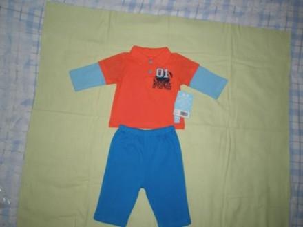 Продам бавовняний костюмчик на вік 6-9 місяців (штанці і кофтинка). Купувала на . Ровно, Ровненская область. фото 2