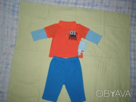 Продам бавовняний костюмчик на вік 6-9 місяців (штанці і кофтинка). Купувала на . Ровно, Ровненская область. фото 1