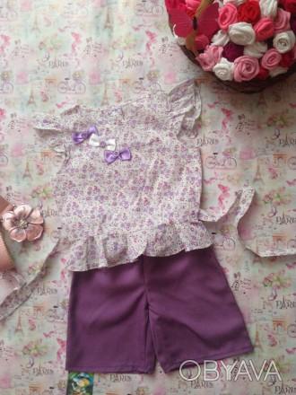 блузка и шорты,рост 100,длина шорт28,длина блузки 38,размер 28. Кривой Рог, Днепропетровская область. фото 1