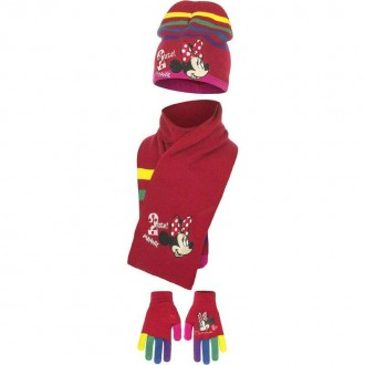 Набор шапка, шарф, перчатки, для девочки. Производитель Disney.  Очень яркие, к. Винница, Винницкая область. фото 5