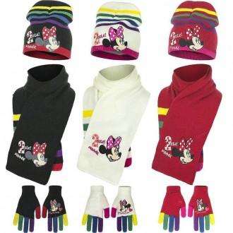 Набор шапка, шарф, перчатки, для девочки. Производитель Disney.  Очень яркие, к. Винница, Винницкая область. фото 2