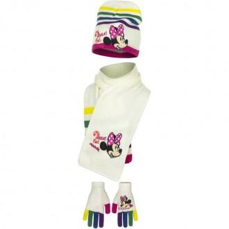 Набор шапка, шарф, перчатки, для девочки. Производитель Disney.  Очень яркие, к. Винница, Винницкая область. фото 4