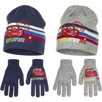 Комплект шапочка и перчатки для мальчика. Производитель Disney, Pixar.  Качеств. Винница, Винницкая область. фото 2