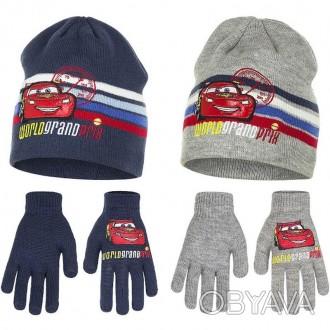 Комплект шапочка и перчатки для мальчика. Производитель Disney, Pixar.  Качеств. Винница, Винницкая область. фото 1