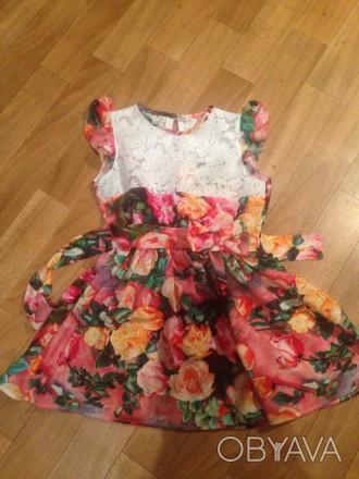 платье на 5-6 лет,рост100,дл. юбки 27,длина до талии27,размер30. Кривой Рог, Днепропетровская область. фото 1