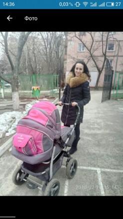 Продам коляску Adamex  Patrol.Цвет розовый с серым Характеристики - есть люльк. Запорожье, Запорожская область. фото 2