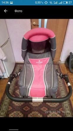 Продам коляску Adamex  Patrol.Цвет розовый с серым Характеристики - есть люльк. Запорожье, Запорожская область. фото 3