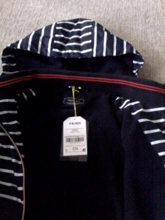 Стильная куртка синяя в белую полоску. Плотный влагостойкий верх, подкладка - фл. Днепр, Днепропетровская область. фото 6