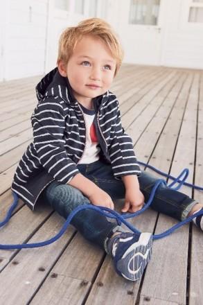 Стильная куртка синяя в белую полоску. Плотный влагостойкий верх, подкладка - фл. Днепр, Днепропетровская область. фото 5