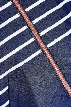 Стильная куртка синяя в белую полоску. Плотный влагостойкий верх, подкладка - фл. Днепр, Днепропетровская область. фото 4