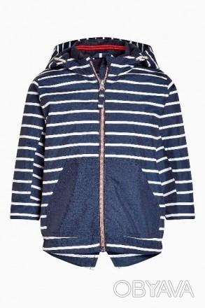 Стильная куртка синяя в белую полоску. Плотный влагостойкий верх, подкладка - фл. Днепр, Днепропетровская область. фото 1