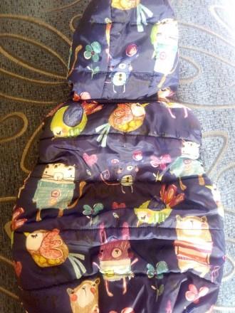 Дутая жилетка на девочку,состояние идеальное,яркая,замеры дам. Херсон, Херсонская область. фото 3