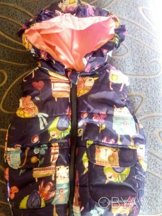 Дутая жилетка на девочку,состояние идеальное,яркая,замеры дам. Херсон, Херсонская область. фото 1