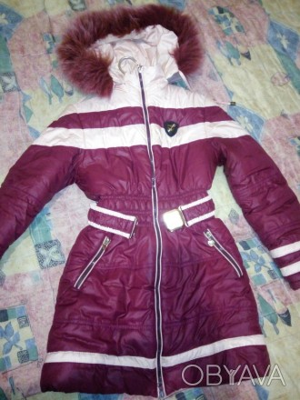 Зимнее пальто на девочку,рост 140,в хорошем состоянии,замеры дам. Херсон, Херсонская область. фото 1