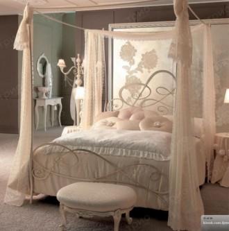 Кровать кованая с балдахином Новелла. Киево-Святошинский. фото 1