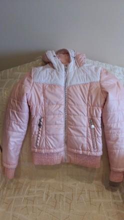 Куртка весняна персикового кольору з капішоном, на замку, стан майже нової.Довжи. Тернополь, Тернопольская область. фото 5