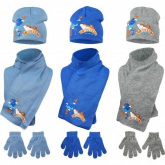 Комплект, шапка, шарф, перчатки для мальчика disney, самолеты dusty disney plane. Винница. фото 1